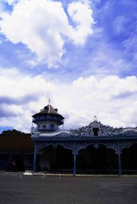 Keraton Solo Menara Surakarta Biru